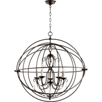 Quorum 6716-5-86 Cilia 5 Light 32 inch Oiled Bronze Chandelier Ceiling Light