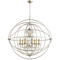 Cilia 39 inch Aged Silver Leaf Chandelier Ceiling Light, Sphere