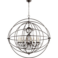Cilia 8 Light 39 inch Oiled Bronze Chandelier Ceiling Light