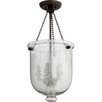 Quorum International Signature 5 Light Foyer Light in Oiled Bronze with Silver Mercury 6720-5-86
