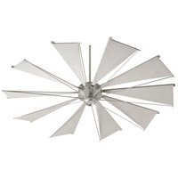 Quorum 67210-65 Mykonos 72 inch Satin Nickel with Gray Blades Ceiling Fan