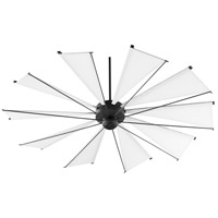 Quorum 67210-69 Mykonos 72 inch Noir with White Blades Ceiling Fan