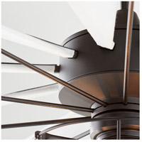 Quorum 67210 69 Mykonos 72 Inch Noir With White Blades Indoor Outdoor Ceiling Fan