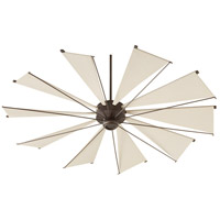 Mykonos 72 inch Oiled Bronze with Khaki Blades Ceiling Fan