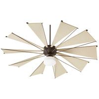 Quorum 67210-86 Mykonos 72 inch Oiled Bronze with Khaki Blades Ceiling Fan  alternative photo thumbnail