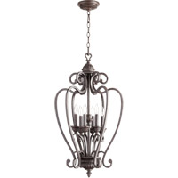 Quorum International Summerset 6 Light Foyer Light in Toasted Sienna 6726-6-44