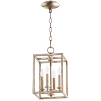 Quorum 6731-4-160 Signature 4 Light 8 inch Aged Silver Leaf Foyer Pendant Ceiling Light