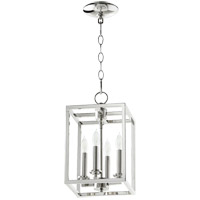 Signature 4 Light 8 inch Polished Nickel Foyer Pendant Ceiling Light