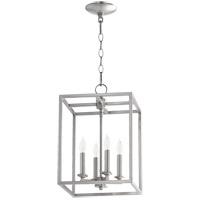 Quorum 6731-4-65 Signature 4 Light 11 inch Satin Nickel Foyer Pendant Ceiling Light