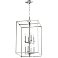 Signature 8 Light 14 inch Polished Nickel Foyer Pendant Ceiling Light