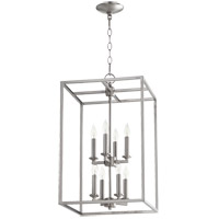 Signature 8 Light 14 inch Satin Nickel Foyer Pendant Ceiling Light