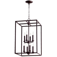Quorum 6731-8-86 Cuboid 8 Light 14 inch Oiled Bronze Foyer Pendant Ceiling Light