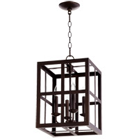 Quorum 6732-4-86 Signature 4 Light 12 inch Oiled Bronze Foyer Pendant Ceiling Light