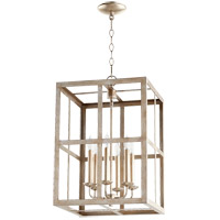 Quorum 6732-6-60 Signature 6 Light 15 inch Aged Silver Leaf Foyer Pendant Ceiling Light