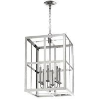 Quorum 6732-6-62 Signature 6 Light 15 inch Polished Nickel Foyer Pendant Ceiling Light