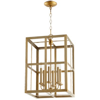 Quorum 6732-6-80 Signature 6 Light 15 inch Aged Brass Foyer Pendant Ceiling Light