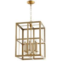 Quorum 6732-6-80 Signature 6 Light 15 inch Aged Brass Foyer Pendant Ceiling Light