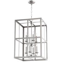 Quorum 6732-8-65 Signature 8 Light 18 inch Satin Nickel Foyer Pendant Ceiling Light