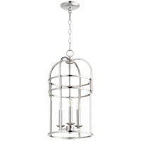 Quorum 6733-3-62 Signature 3 Light 12 inch Polished Nickel Foyer Pendant Ceiling Light