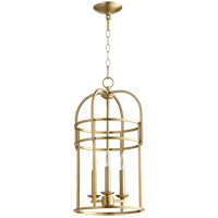Quorum 6733-3-80 Signature 3 Light 12 inch Aged Brass Foyer Pendant Ceiling Light