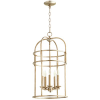 Quorum 6733-5-60 Signature 5 Light 14 inch Aged Silver Leaf Foyer Pendant Ceiling Light