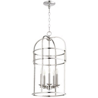 Quorum 6733-5-62 Signature 5 Light 14 inch Polished Nickel Foyer Pendant Ceiling Light