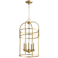 Quorum 6733-5-80 Signature 5 Light 14 inch Aged Brass Foyer Pendant Ceiling Light