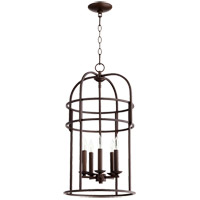 Quorum 6733-5-86 Signature 5 Light 14 inch Oiled Bronze Foyer Pendant Ceiling Light