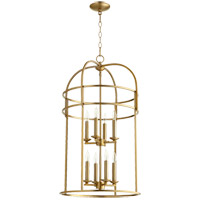 Quorum 6733-8-80 Signature 8 Light 18 inch Aged Brass Foyer Pendant Ceiling Light