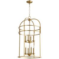 Quorum 6733-8-80 Signature 8 Light 18 inch Aged Brass Foyer Pendant Ceiling Light