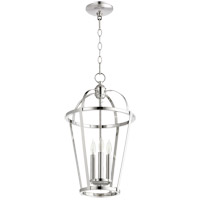 Quorum 6734-3-62 Signature 3 Light 12 inch Polished Nickel Foyer Pendant Ceiling Light