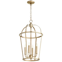 Quorum 6734-4-60 Signature 4 Light 15 inch Aged Silver Leaf Foyer Pendant Ceiling Light