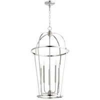 Quorum 6734-5-62 Signature 5 Light 18 inch Polished Nickel Foyer Pendant Ceiling Light