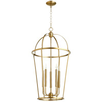 Quorum 6734-5-80 Signature 5 Light 18 inch Aged Brass Foyer Pendant Ceiling Light