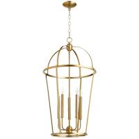 Quorum 6734-5-80 Signature 5 Light 18 inch Aged Brass Foyer Pendant Ceiling Light