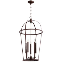 Quorum 6734-5-86 Signature 5 Light 18 inch Oiled Bronze Foyer Pendant Ceiling Light
