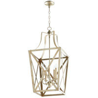 Quorum 6736-5-60 Signature 5 Light 15 inch Aged Silver Leaf Foyer Pendant Ceiling Light
