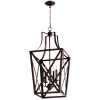 Quorum 6736-5-86 Signature 5 Light 15 inch Oiled Bronze Foyer Pendant Ceiling Light