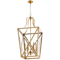 Quorum 6736-6-80 Signature 6 Light 18 inch Aged Brass Foyer Pendant Ceiling Light