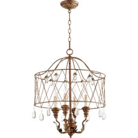 Quorum Venice 4 Light Pendant in Vintage Copper 6744-4-39