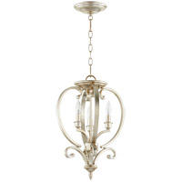 Quorum 6754-3-60 Bryant 13 inch Aged Silver Leaf Dual Mount Pendant Ceiling Light Entry