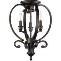 Quorum International Bryant 3 Light Foyer Light in Oiled Bronze 6754-3-86