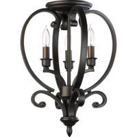Quorum 6754-3-86 Bryant 3 Light 13 inch Oiled Bronze Foyer Light Ceiling Light