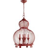 Quorum International Signature 4 Light Pendant in Red 6765-4-34