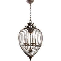 Quorum International Signature 4 Light Pendant in Oiled Bronze 6766-4-86