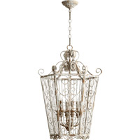 Quorum International Signature 6 Light Pendant in Manchester Grey 6770-6-56
