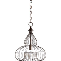Quorum 6777-1-86 Signature 1 Light 13 inch Oiled Bronze Pendant Ceiling Light