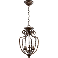Quorum 6778-3-86 Tribeca II 3 Light 11 inch Oiled Bronze Foyer Light Ceiling Light