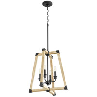 Quorum 6789-4-69 Alpine 4 Light 18 inch Noir with Driftwood Entry Pendant Ceiling Light