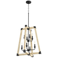Quorum 6789-8-69 Alpine 8 Light 22 inch Noir with Driftwood Entry Pendant Ceiling Light